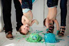 Twin cake-smash